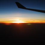Sonnenaufgang irgendwo zwischen Frankfurt und Muscat