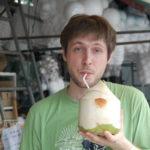 Frische Kokosnuss. Hmmmm