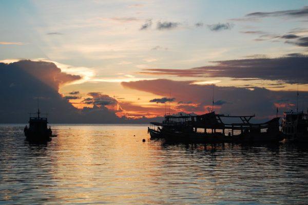 Sonnenuntergang, Hat Mea Haad, Koh Tao, Thailand