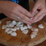 Ausgelöste Kakaobohnen