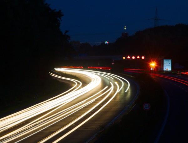 Die A3 bei Nacht