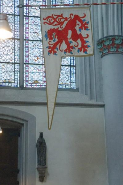 Heilige Ursula am Nordportal des Altenberger Doms